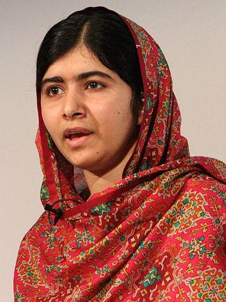Women's rights in 2014 - Image: Malala Yousafzai at Girl Summit 2014