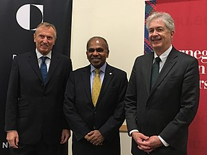 William Joseph Burns - Burns with CMU President Subra Suresh (middle) and ITU-T Director Malcolm Johnson (left), 2016
