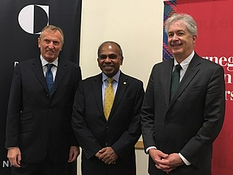 William Joseph Burns - Burns with CMU President Subra Suresh (middle) and ITU-T Director Malcolm Johnson (left), 2016