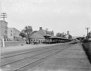 Malden Center (MBTA station) - Malden Pearl Street station in 1906