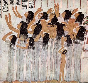 TT55 - Lamenting Women, from the tomb (TT55) of Ramose, c. 1411-1375 BCE