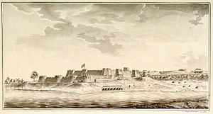 Mangalore -  A pen and ink drawing of Mangalore Fort made in 1783, after it had been taken over by the British East India Company