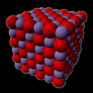 Iron(II) oxide - Image: Manganese(II) oxide xtal 3D SF