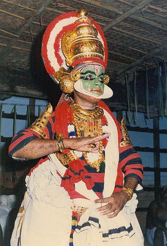 Sanskrit drama - King Udayana in Bhasa's Swapnavasavadattam Koodiyattam—the only surviving ancient Sanskrit theatre. (Artist:Mani Damodara Chakyar)