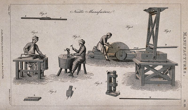 File:Manufacture of needles. Etching by Russell and Mutlow after Wellcome V0023632.jpg