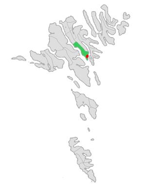 Sjóvar Municipality - Image: Map position sjovar kommuna 2005