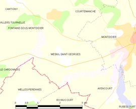 Mapa obce Mesnil-Saint-Georges