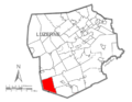 Map of Luzerne County, Pennsylvania Highlighting Black Creek Township.PNG