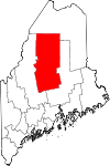 Map of Maine highlighting Piscataquis County.svg