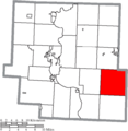 Map of Muskingum County Ohio Highlighting Rich Hill Township.png