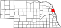 Map of Nebraska highlighting Burt County.svg