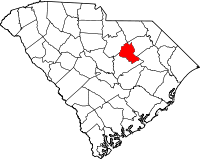 Locatie van Lee County in South Carolina
