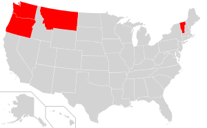 Map of the United States highlighting states a...
