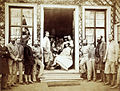 Mar Lodge, group in the doorway of the smoking room including the Prince and Princess of Wales 2.jpg