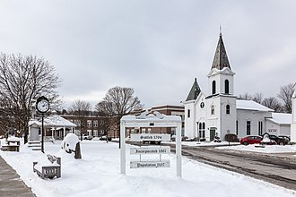 Marathon, New York - Town center in winter