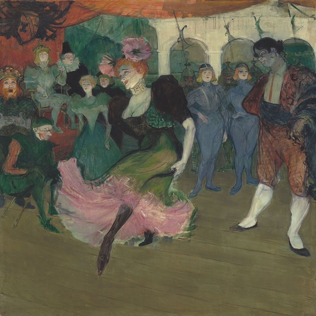 "Marcelle Lender Dancing the Bolero in ""Chilpéric"" by Henri de Toulouse-Lautrec"