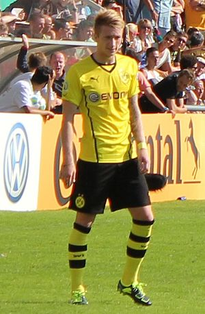 Marco Reus - Reus in action for Borussia Dortmund in 2013.