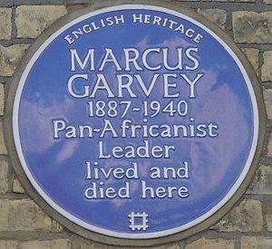 Marcus Garvey - Blue plaque, 53 Talgarth Road, London