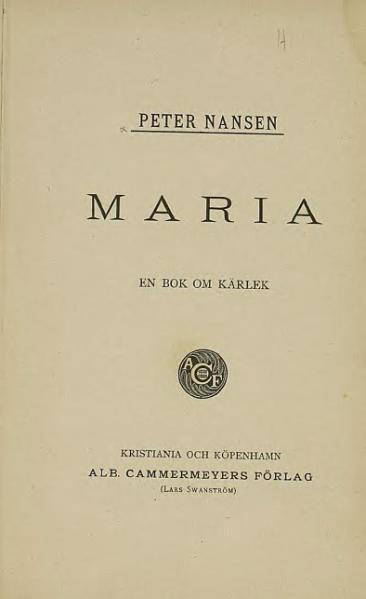 File:Maria - en bok om kärlek.djvu