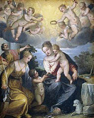 Virgin and Child with young John the Baptist and Saint Catherine