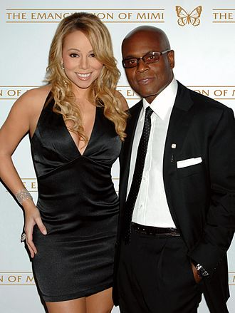 The Emancipation of Mimi - Carey, pictured with former Island Records head L.A. Reid in 2005, at the release party for The Emancipation of Mimi