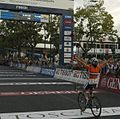Marianne Vos winning the women's road race at the 2013 UCI Road World Championships (3).jpg