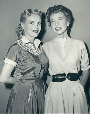 My Friend Irma (entertainment property) - Marie Wilson and Mary Shipp as Irma's friend Kay Foster, 1953.