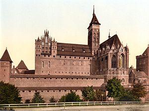 Treaty of Marienburg - Marienburg (Malbork) castle