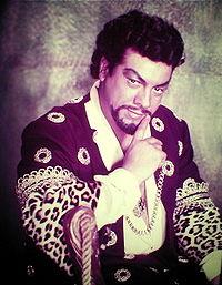 Mario Lanza as Giuseppe Verdi's Otello.