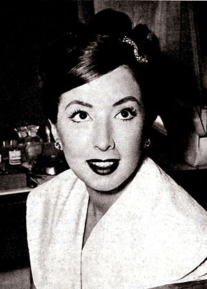 Marisa Del Frate - Photo of Del Frate from the magazine Radiocorriere (1957)