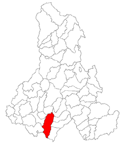 Location of Mărtiniş
