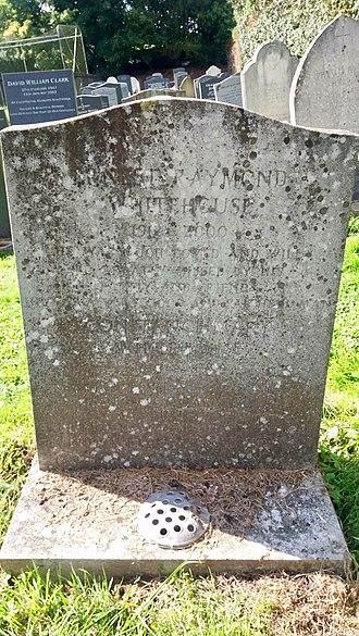 Mary Whitehouse - The grave of Mary Whitehouse's husband, Ernest Raymond Whitehouse