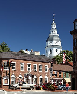 Annapolis, Maryland - Maryland State House as seen from Church Circle