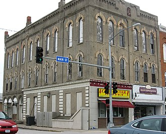 Osceola, Iowa - Image: Masonic Bldg Osceola Iowa