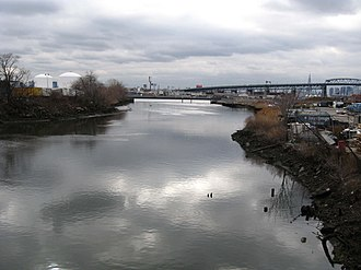 Maspeth, Queens - Maspeth Creek, looking west toward Newtown Creek