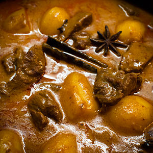 Massaman curry - Matsaman nuea (beef massaman) with potato, star anise, cinnamon and clove.