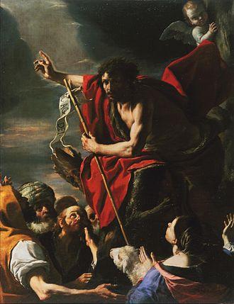 Prophets of Christianity - Image: Mattia Preti San Giovanni Battista Predicazione