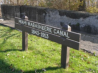 Wabash and Erie Canal - Image: Maumee & Ohio canal (park sign)