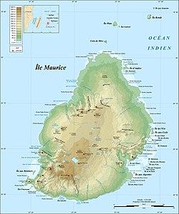 Mauritius Island topographic map-fr.jpg