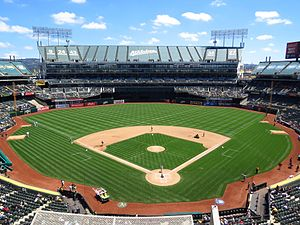 Oakland–Alameda County Coliseum - Overstock.com Coliseum during a baseball game