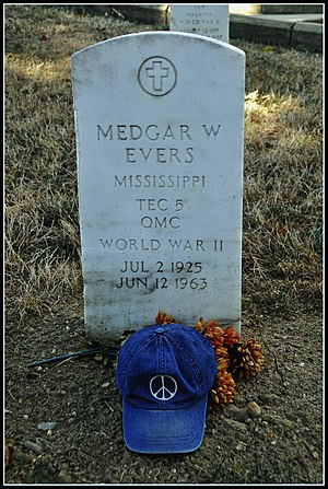 For Us the Living: The Medgar Evers Story - Image: Medgar Evers, Assassinated Civil Rights Hero (The Peace Hat)