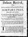 Medical advertising; Delaun reviv'd... Wellcome L0027233.jpg