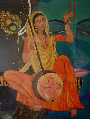 Meera - A painting of Meera Bai