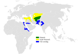 Melanocorypha bimaculata distribution map.png