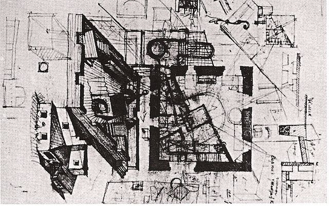 Melnikov house sketch