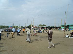 Bor, South Sudan - Merol Market in Bor Town (2010).