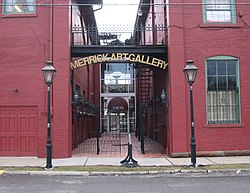 Entrance to the Merrick Art Gallery, a local landmark