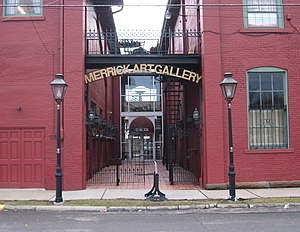 New Brighton, Pennsylvania - Entrance to the Merrick Art Gallery, a local landmark