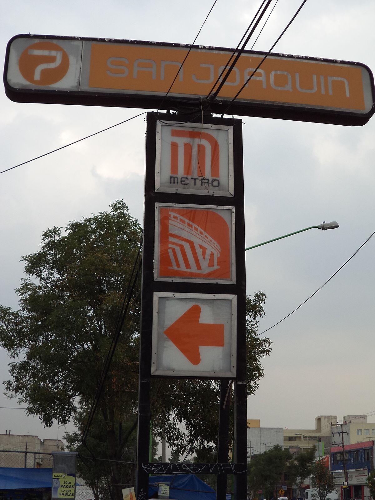 San Joaquín Estación Del Metro De Ciudad De México