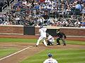Mets Catcher Ronny Paulino at bat.jpg